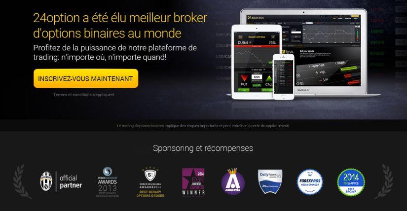 24option broker option binaire