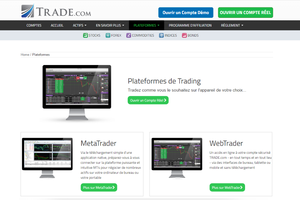 trade.com plateforme